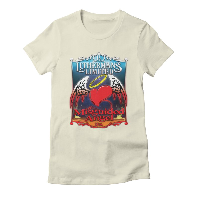 Misguided Angel Women's Fitted T-Shirt by Lithermans Limited Print Shop