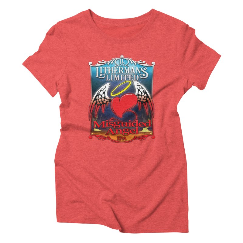 Misguided Angel Women's Triblend T-Shirt by Lithermans Limited Print Shop