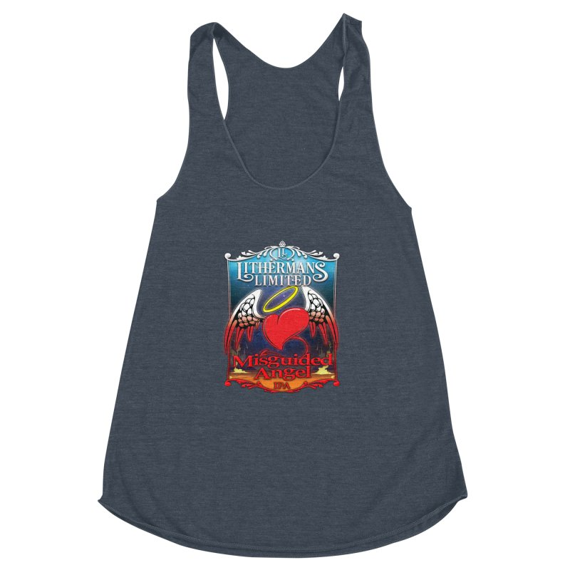 Misguided Angel Women's Racerback Triblend Tank by Lithermans Limited Print Shop