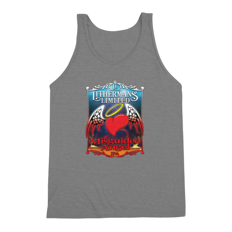 Misguided Angel Men's Triblend Tank by Lithermans Limited Print Shop