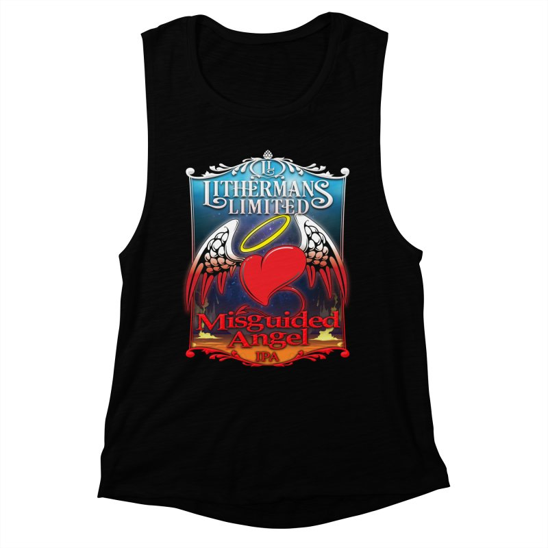 Misguided Angel Women's Muscle Tank by Lithermans Limited Print Shop