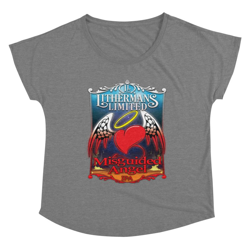 Misguided Angel Women's Scoop Neck by Lithermans Limited Print Shop