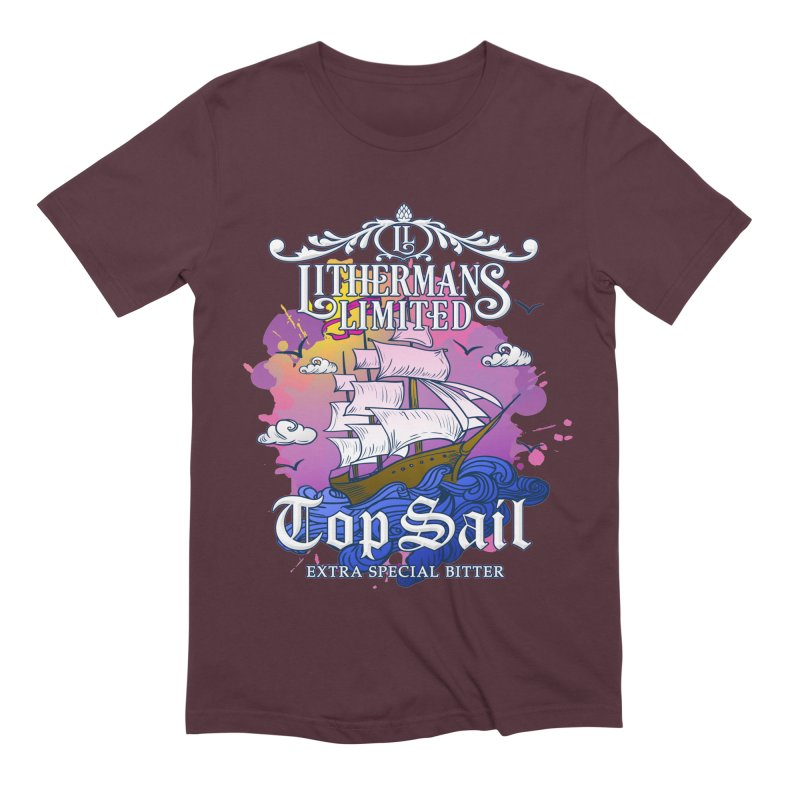 Top Sail Men's Extra Soft T-Shirt by Lithermans Limited Print Shop