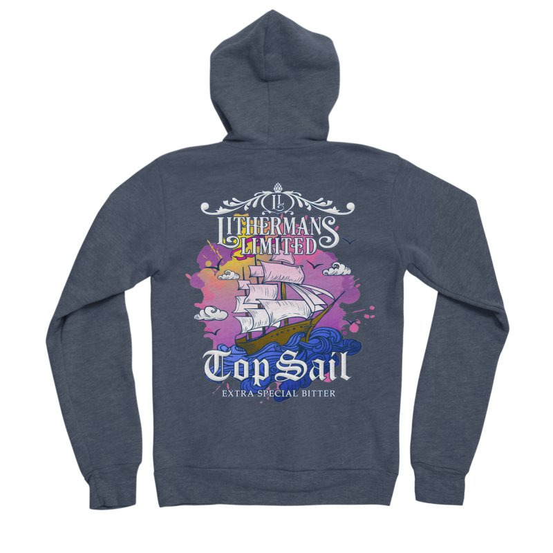 Top Sail Men's Sponge Fleece Zip-Up Hoody by Lithermans Limited Print Shop