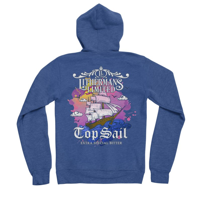 Top Sail Women's Sponge Fleece Zip-Up Hoody by Lithermans Limited Print Shop