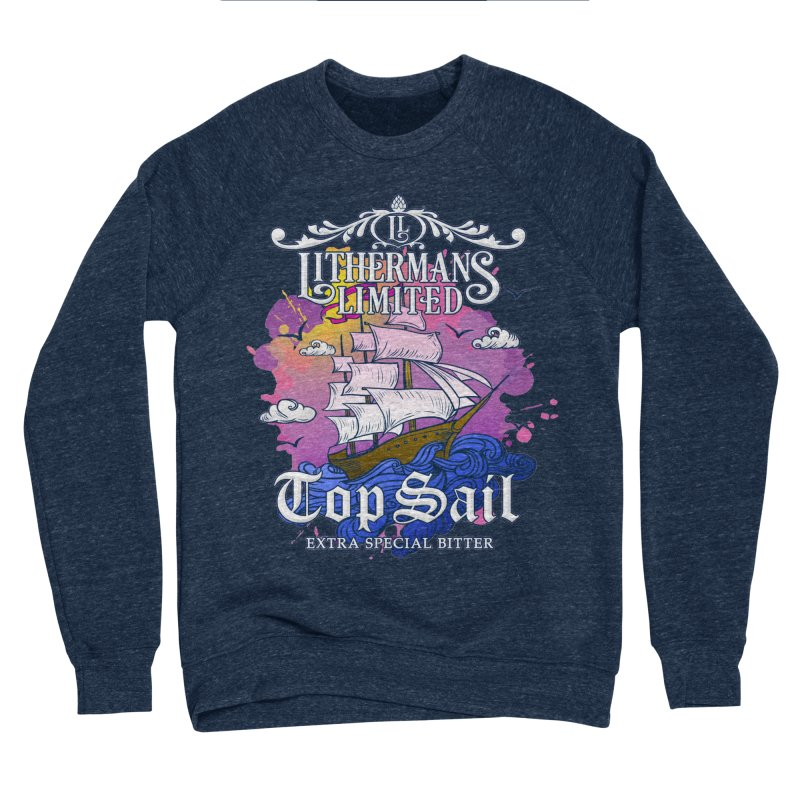 Top Sail Men's Sponge Fleece Sweatshirt by Lithermans Limited Print Shop