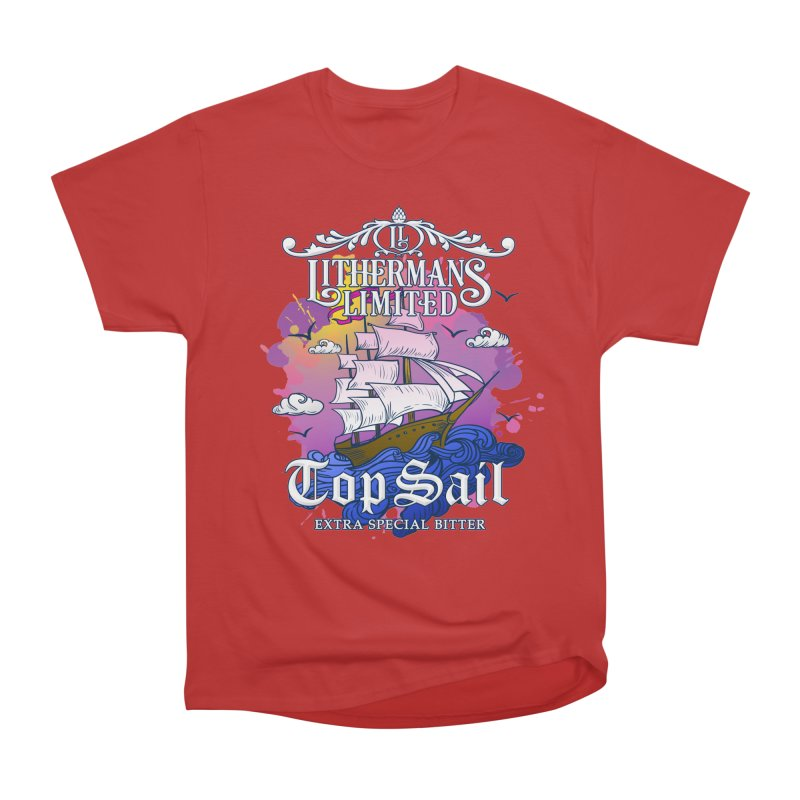 Top Sail Men's Heavyweight T-Shirt by Lithermans Limited Print Shop