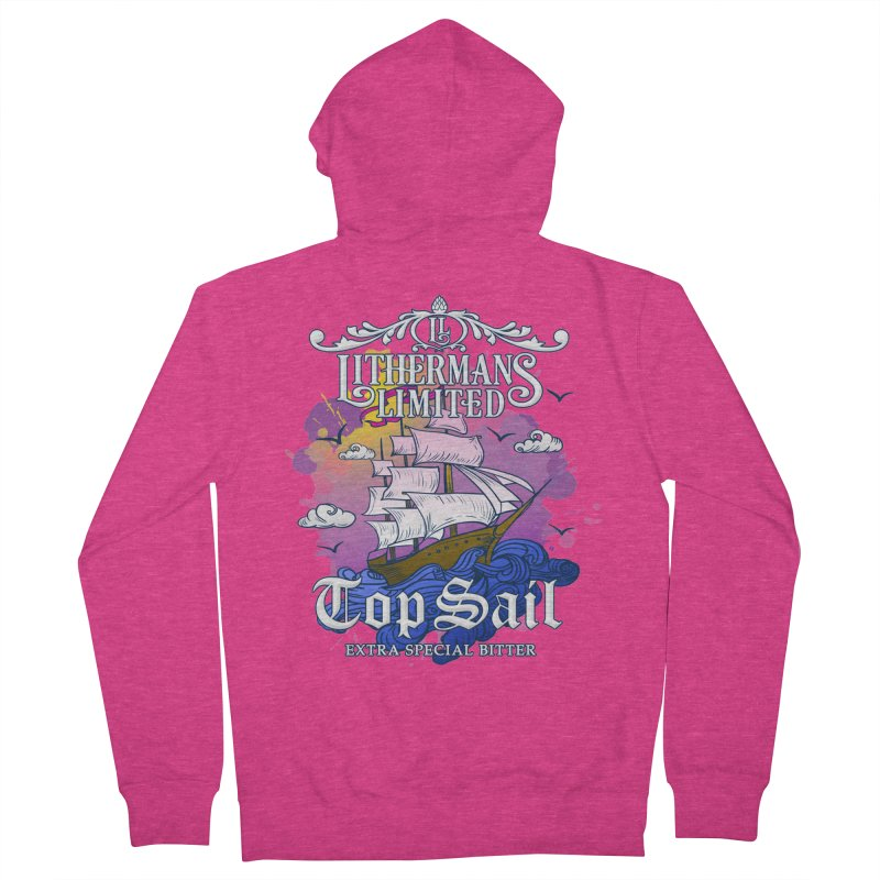 Top Sail Women's French Terry Zip-Up Hoody by Lithermans Limited Print Shop