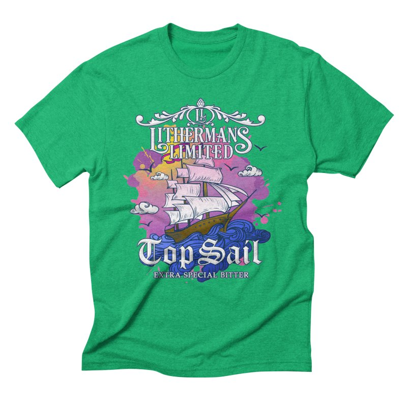 Top Sail Men's Triblend T-Shirt by Lithermans Limited Print Shop