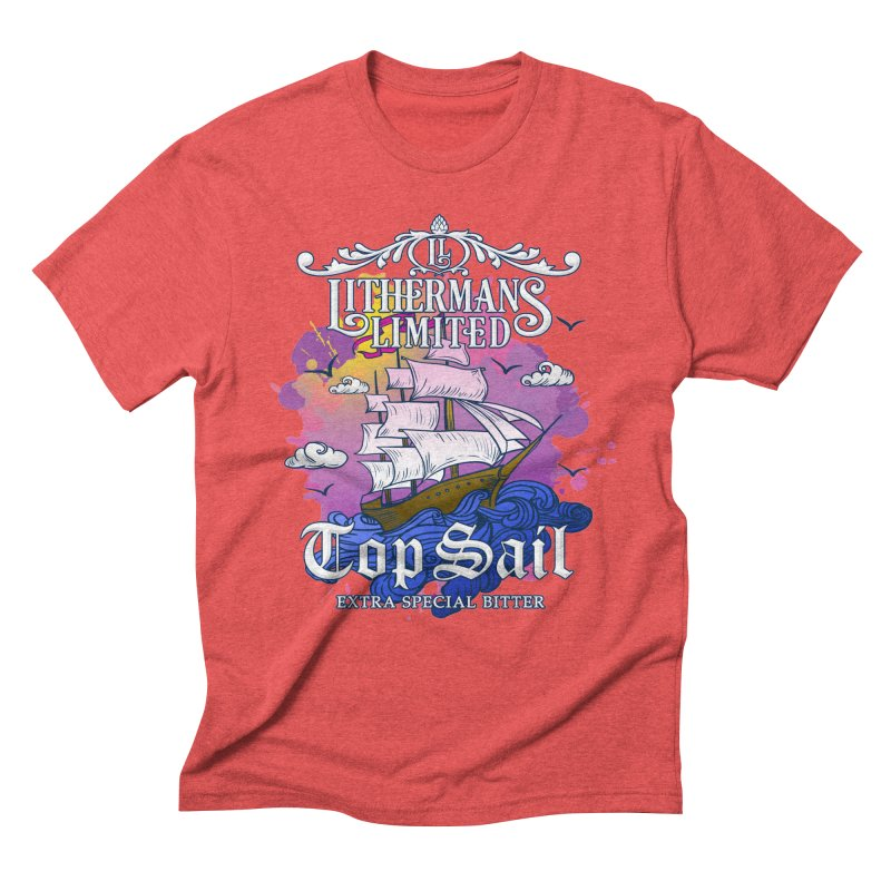 Top Sail Men's Triblend T-Shirt by Lithermans Limited Print Shop