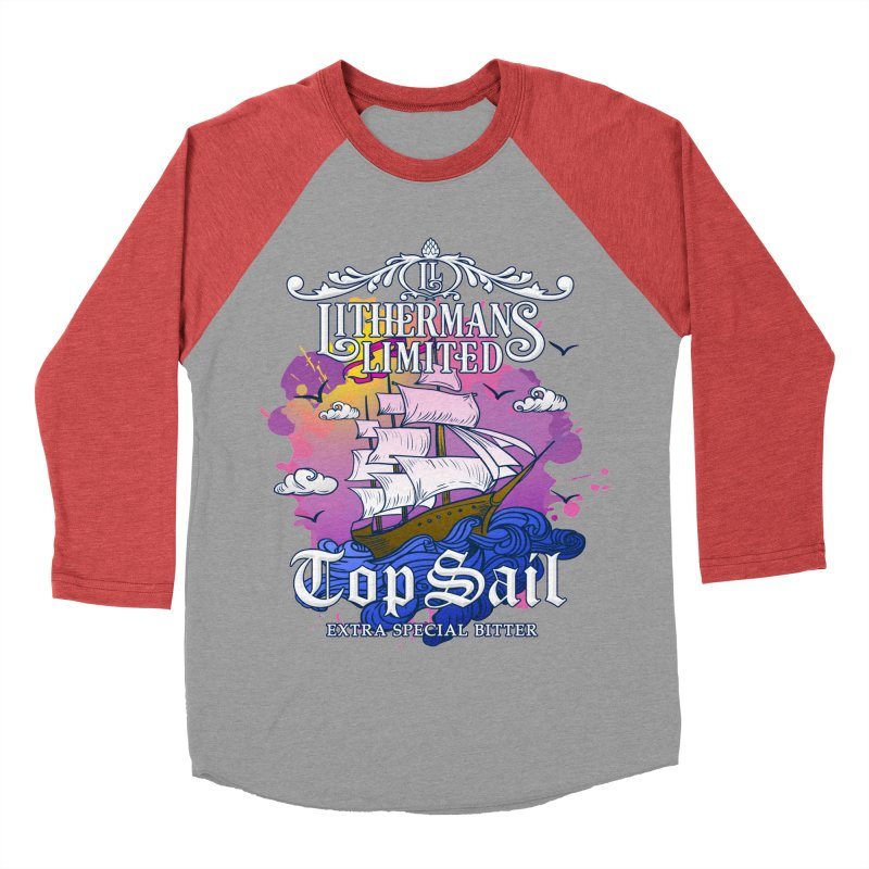 Top Sail Men's Baseball Triblend Longsleeve T-Shirt by Lithermans Limited Print Shop