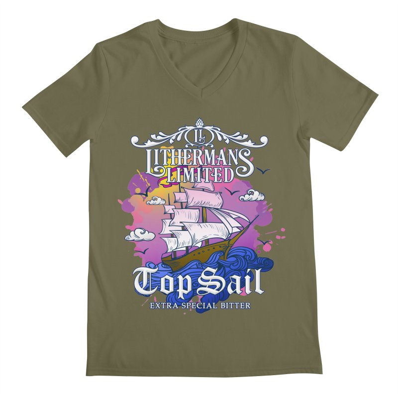 Top Sail Men's Regular V-Neck by Lithermans Limited Print Shop