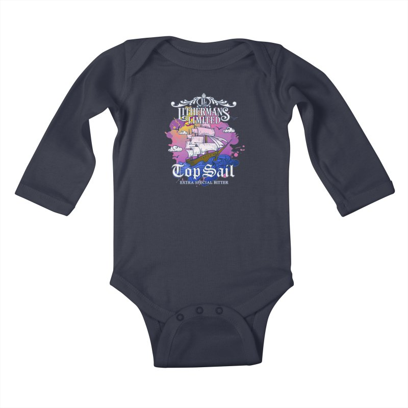 Top Sail Kids Baby Longsleeve Bodysuit by Lithermans Limited Print Shop