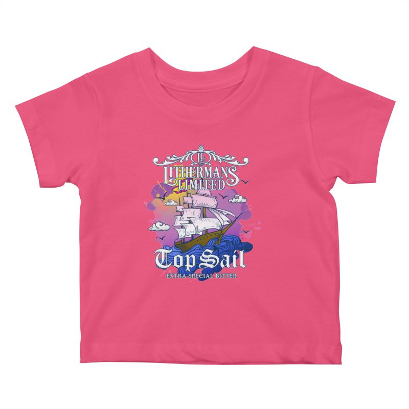 Top Sail Kids Baby T-Shirt by Lithermans Limited Print Shop