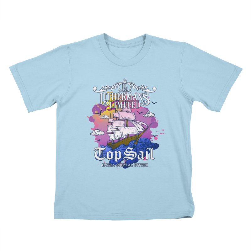 Top Sail Kids T-Shirt by Lithermans Limited Print Shop