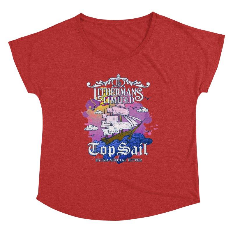 Top Sail Women's Dolman Scoop Neck by Lithermans Limited Print Shop