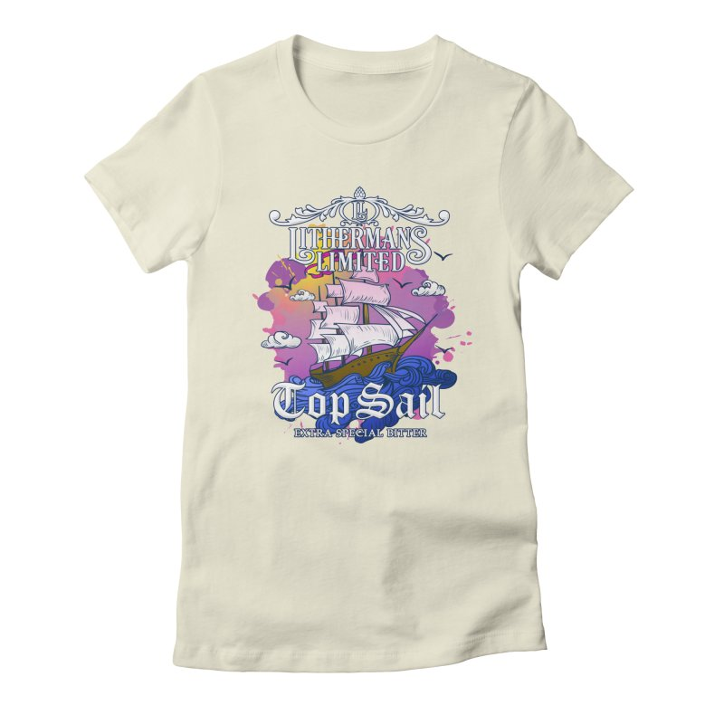 Top Sail Women's Fitted T-Shirt by Lithermans Limited Print Shop