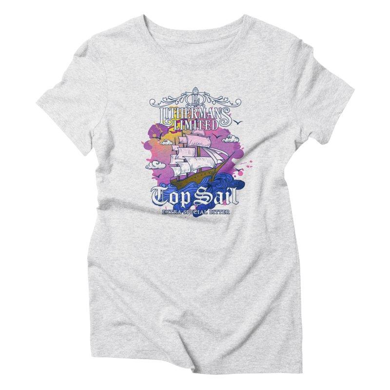 Top Sail Women's Triblend T-Shirt by Lithermans Limited Print Shop
