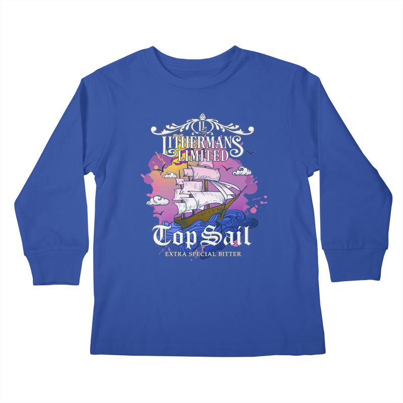 Top Sail Kids Longsleeve T-Shirt by Lithermans Limited Print Shop