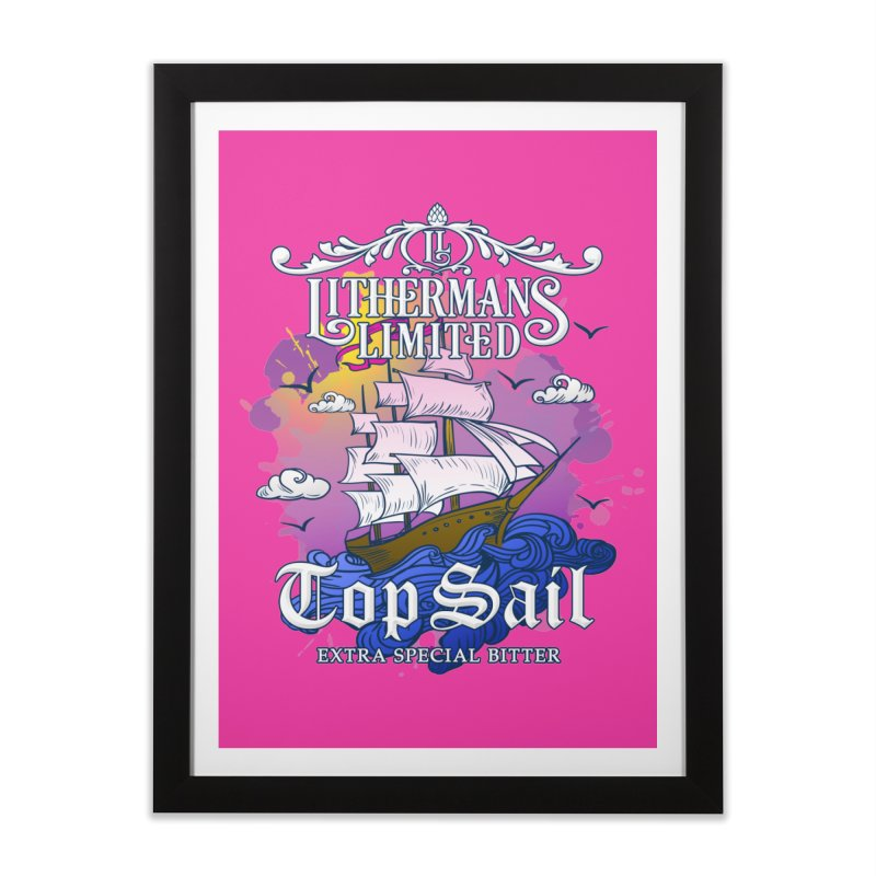 Top Sail Home Framed Fine Art Print by Lithermans Limited Print Shop