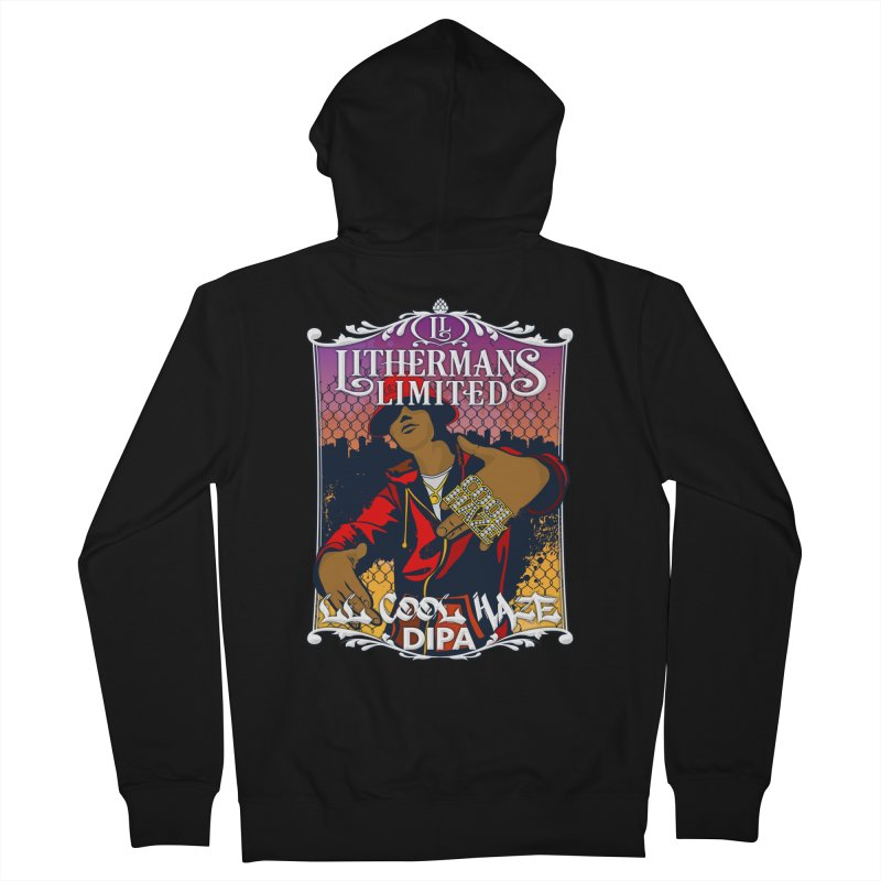 LL Cool Haze Men's French Terry Zip-Up Hoody by Lithermans Limited Print Shop
