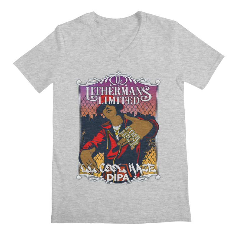LL Cool Haze Men's Regular V-Neck by Lithermans Limited Print Shop