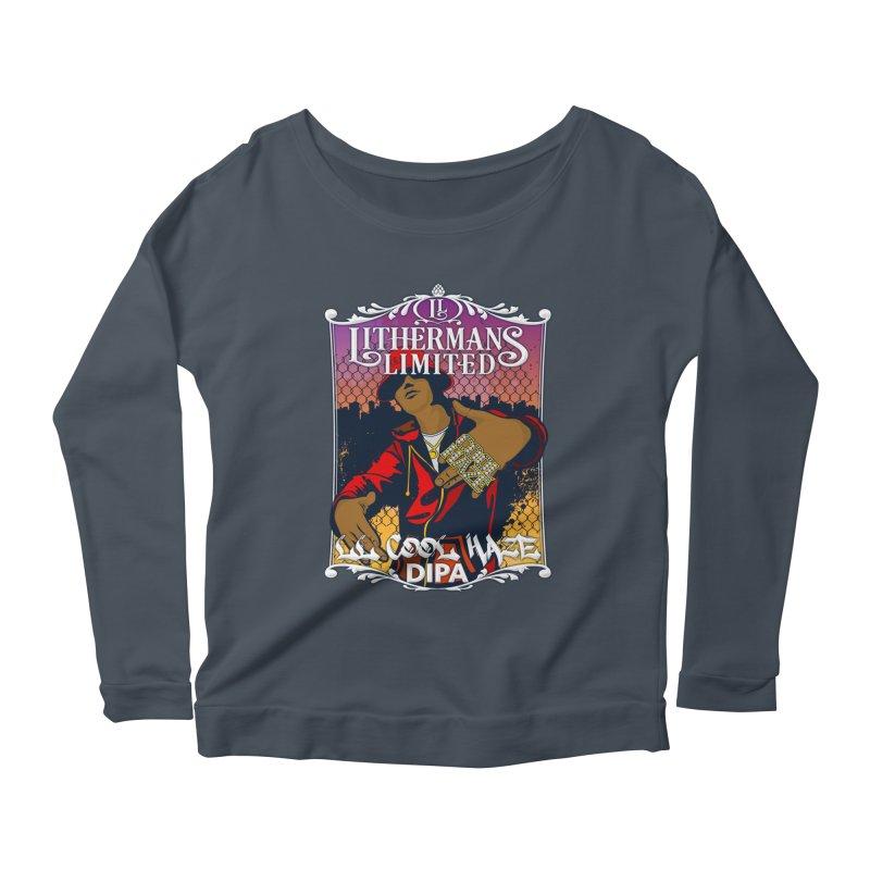 LL Cool Haze Women's Scoop Neck Longsleeve T-Shirt by Lithermans Limited Print Shop