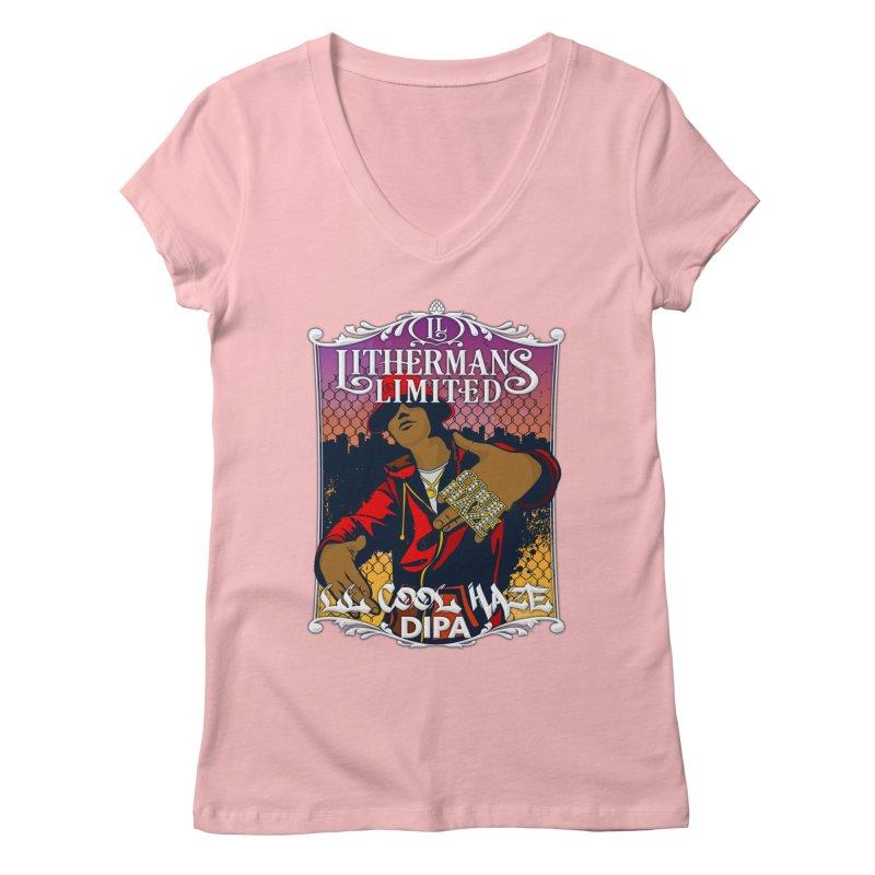 LL Cool Haze Women's Regular V-Neck by Lithermans Limited Print Shop