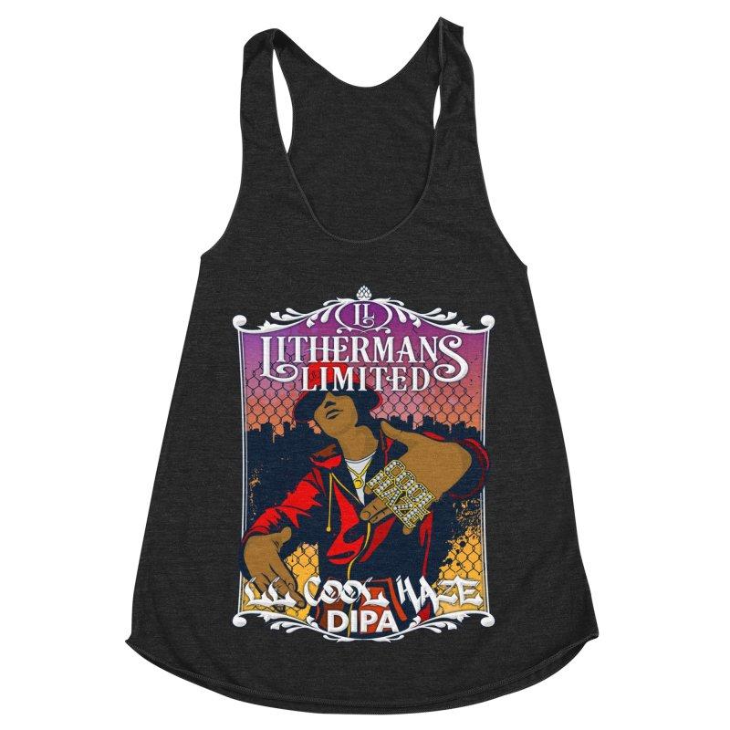 LL Cool Haze Women's Racerback Triblend Tank by Lithermans Limited Print Shop