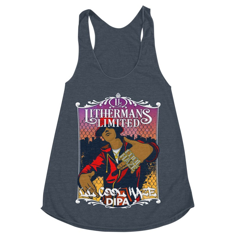 LL Cool Haze Women's Racerback Triblend Tank by Lithermans Limited Print Shop