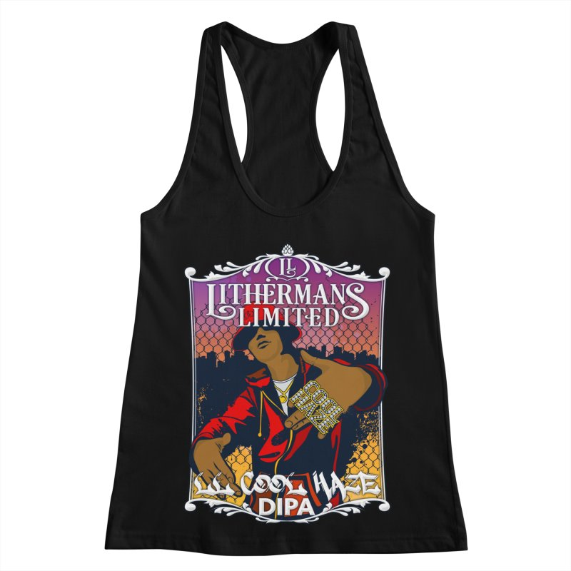 LL Cool Haze Women's Racerback Tank by Lithermans Limited Print Shop