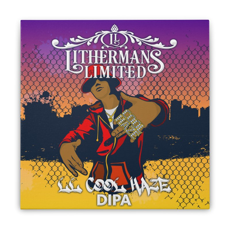 LL Cool Haze Home Stretched Canvas by Lithermans Limited Print Shop