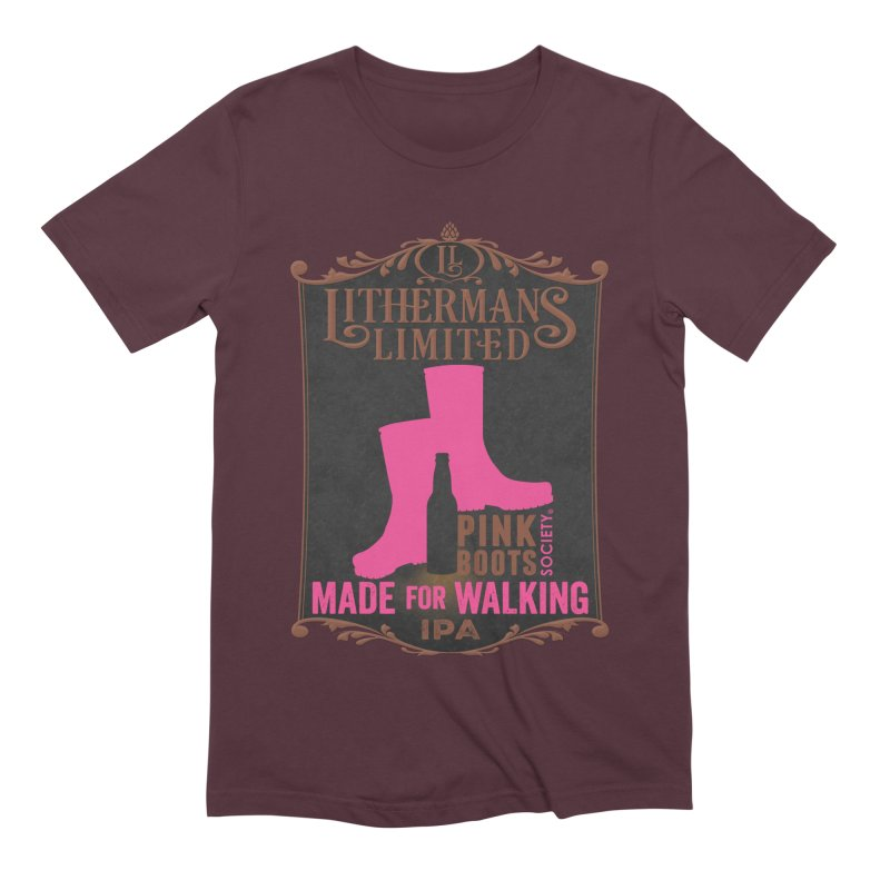 Made For Walking Men's Extra Soft T-Shirt by Lithermans Limited Print Shop