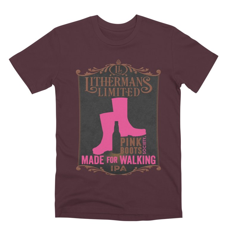 Made For Walking Men's Premium T-Shirt by Lithermans Limited Print Shop