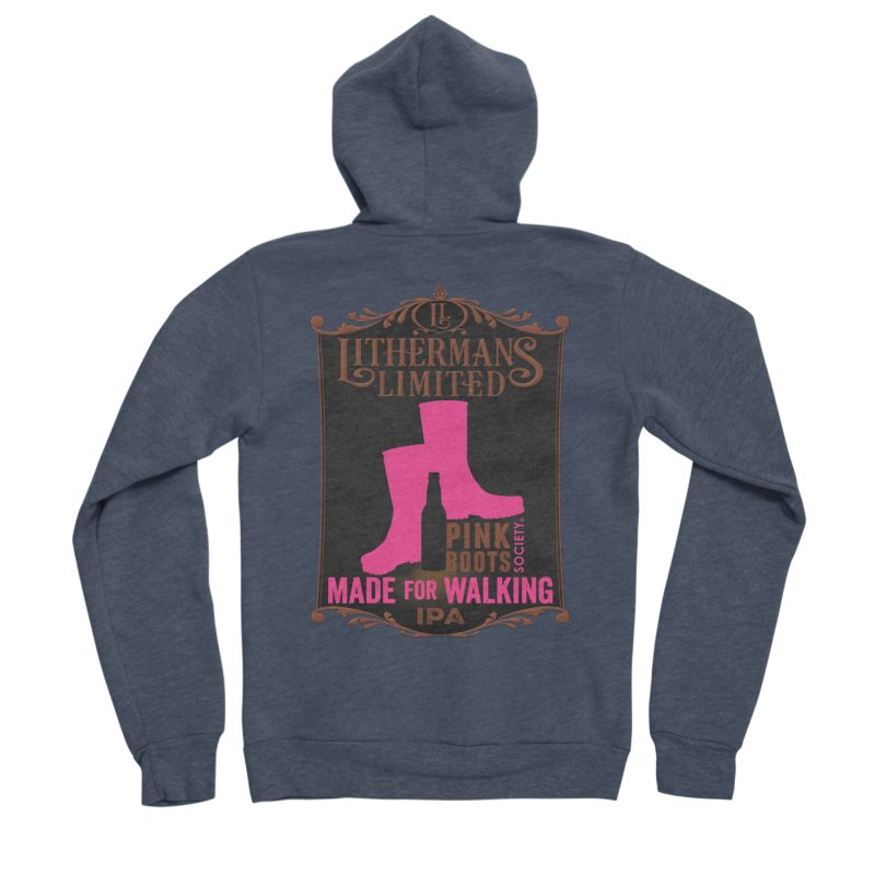 Made For Walking Men's Sponge Fleece Zip-Up Hoody by Lithermans Limited Print Shop