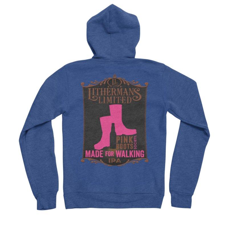 Made For Walking Men's Sponge Fleece Zip-Up Hoody by Lithermans Limited Print Shop