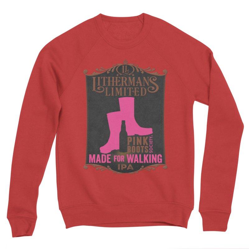 Made For Walking Women's Sponge Fleece Sweatshirt by Lithermans Limited Print Shop