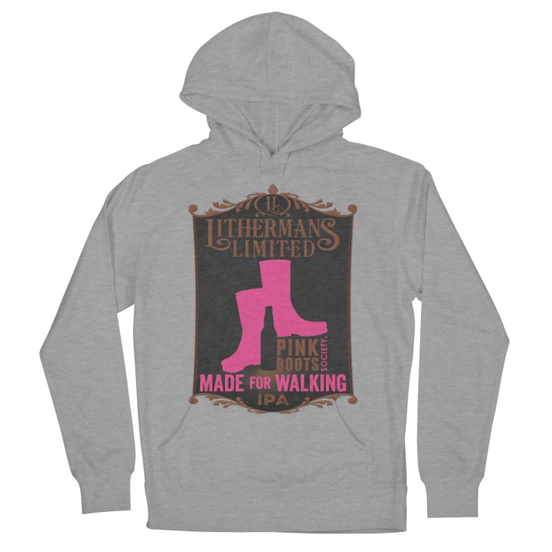 Made For Walking Women's French Terry Pullover Hoody by Lithermans Limited Print Shop