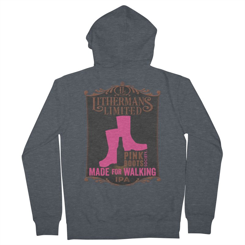 Made For Walking Women's French Terry Zip-Up Hoody by Lithermans Limited Print Shop