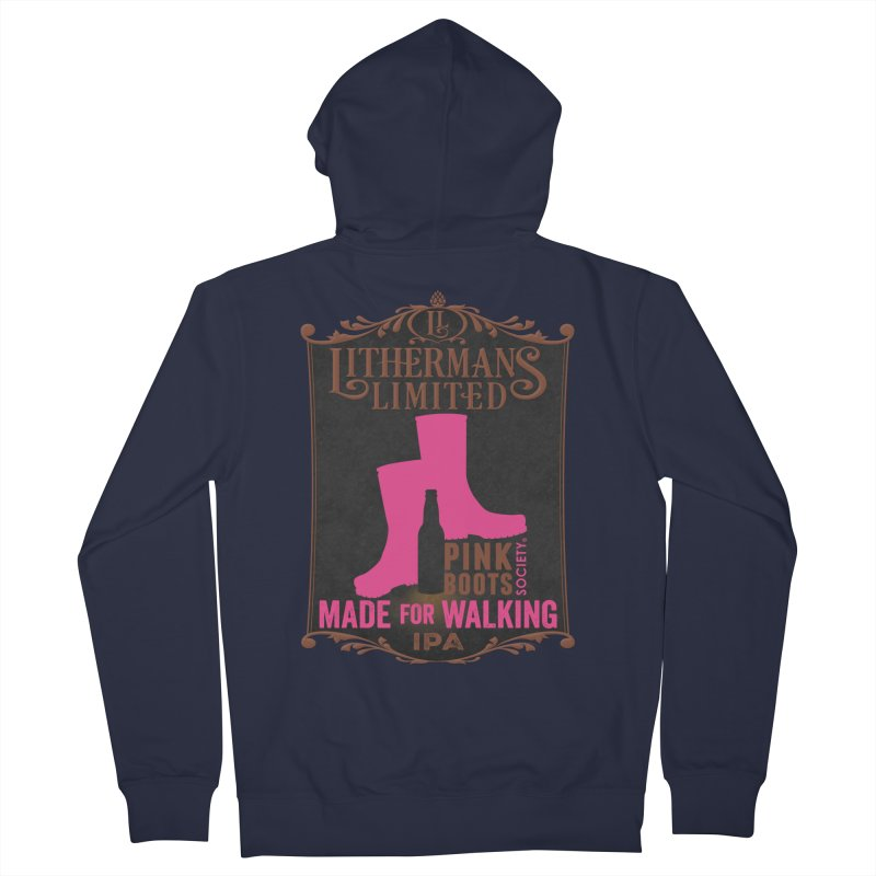 Made For Walking Men's French Terry Zip-Up Hoody by Lithermans Limited Print Shop