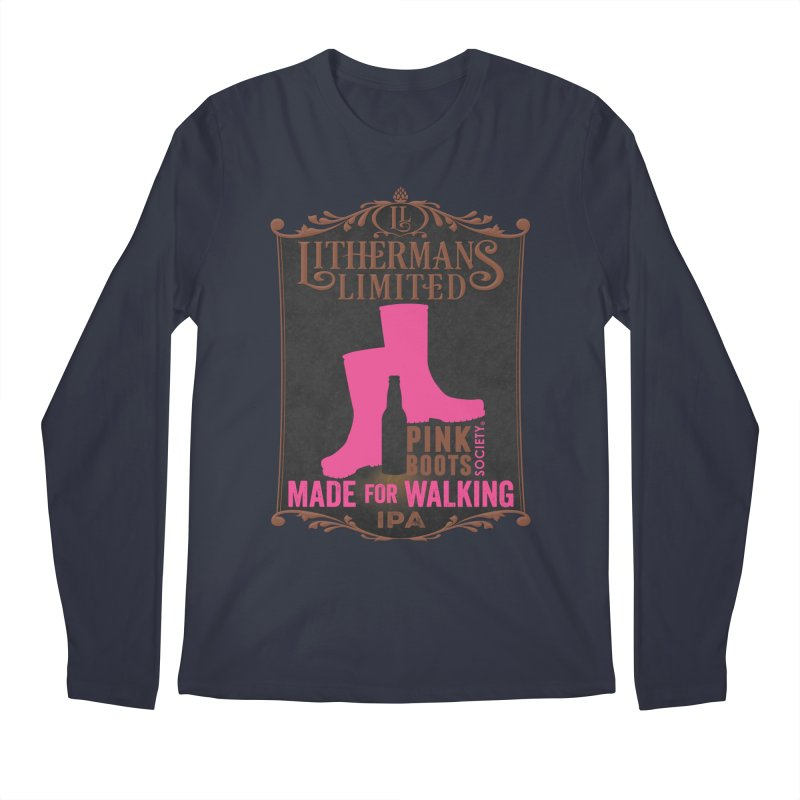 Made For Walking Men's Regular Longsleeve T-Shirt by Lithermans Limited Print Shop
