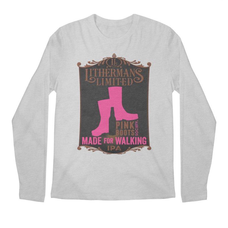Made For Walking Men's Regular Longsleeve T-Shirt by Lithermans Limited Print Shop