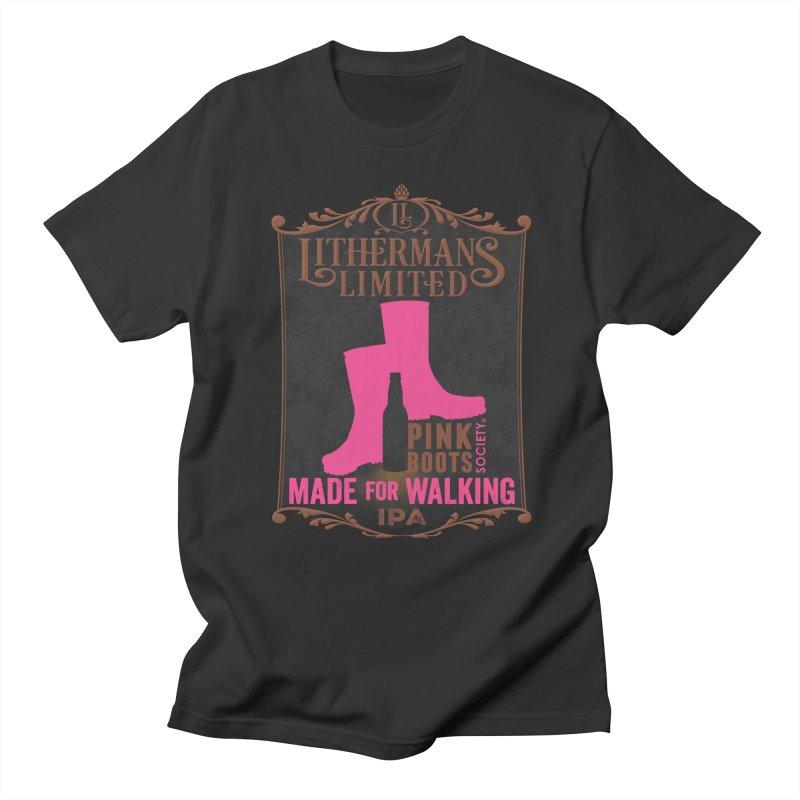Made For Walking Men's Regular T-Shirt by Lithermans Limited Print Shop