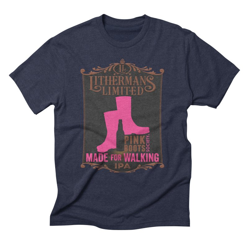 Made For Walking Men's Triblend T-Shirt by Lithermans Limited Print Shop