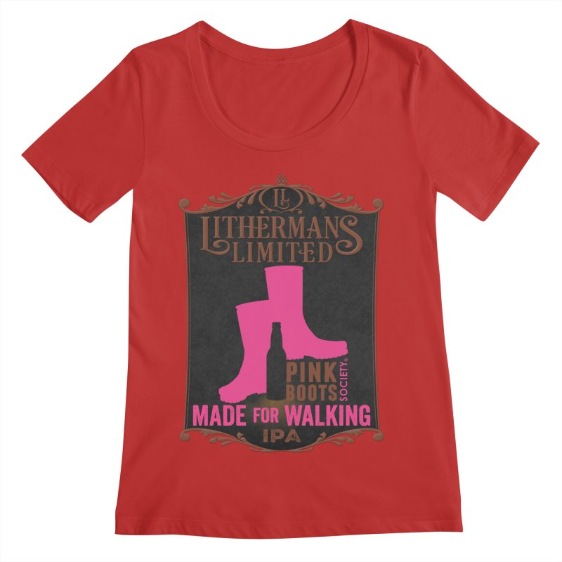 Made For Walking Women's Regular Scoop Neck by Lithermans Limited Print Shop