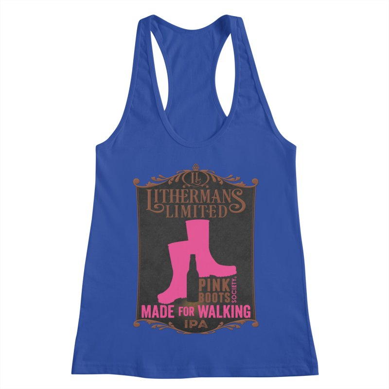 Made For Walking Women's Racerback Tank by Lithermans Limited Print Shop