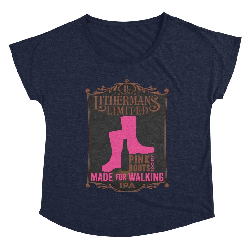 Made For Walking Women's Dolman Scoop Neck by Lithermans Limited Print Shop