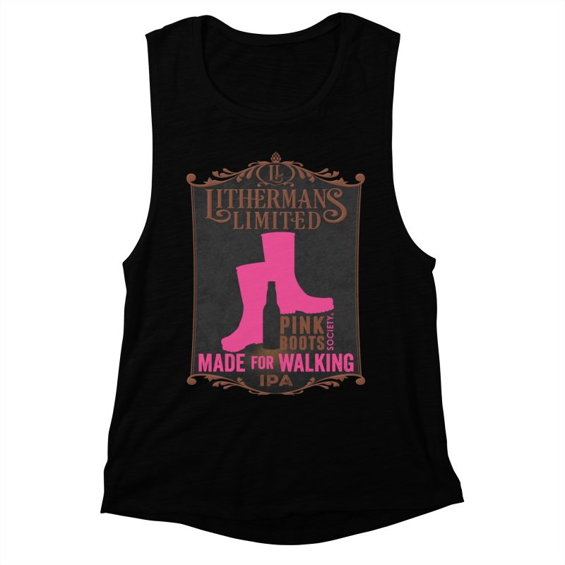 Made For Walking Women's Muscle Tank by Lithermans Limited Print Shop
