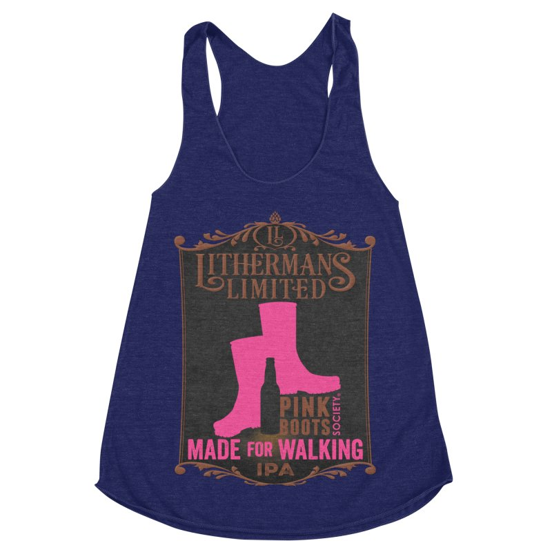 Made For Walking Women's Racerback Triblend Tank by Lithermans Limited Print Shop