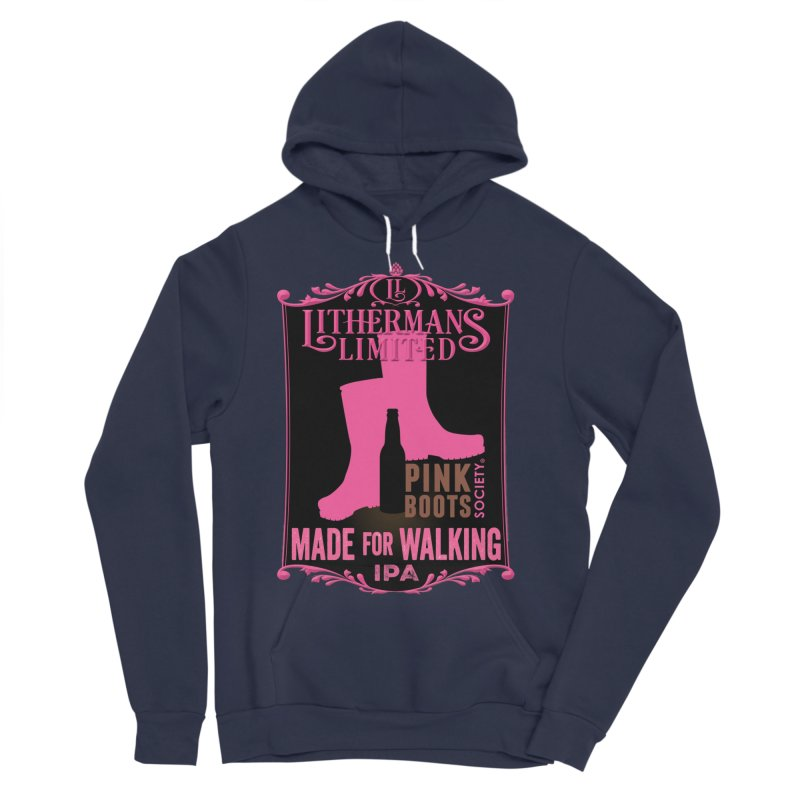 Made For Walking Men's Sponge Fleece Pullover Hoody by Lithermans Limited Print Shop